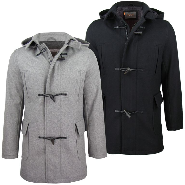 Mens Ben Sherman Wadded Melton Duffle Hybrid Jacket/ Coat ...