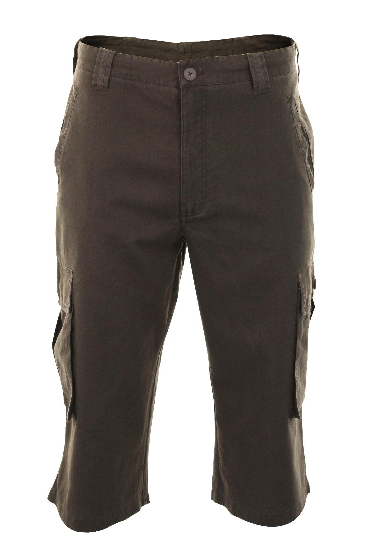 Mens 3 4 Linen Shorts
