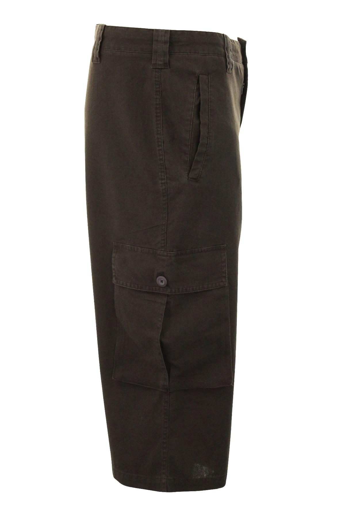 Mens 3/4 Cargo Shorts Ben Smith Linen Rich Combats | eBay