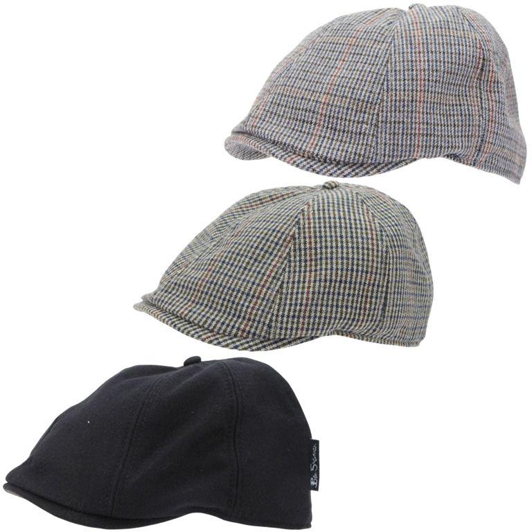Lã Masculino Ben Sherman rico de condução Flat Caps chapéu com ... e9e8bd32c5b