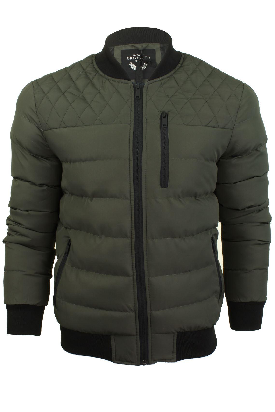 mens bomber jacket by brave soul 39 nomad 39 ebay. Black Bedroom Furniture Sets. Home Design Ideas