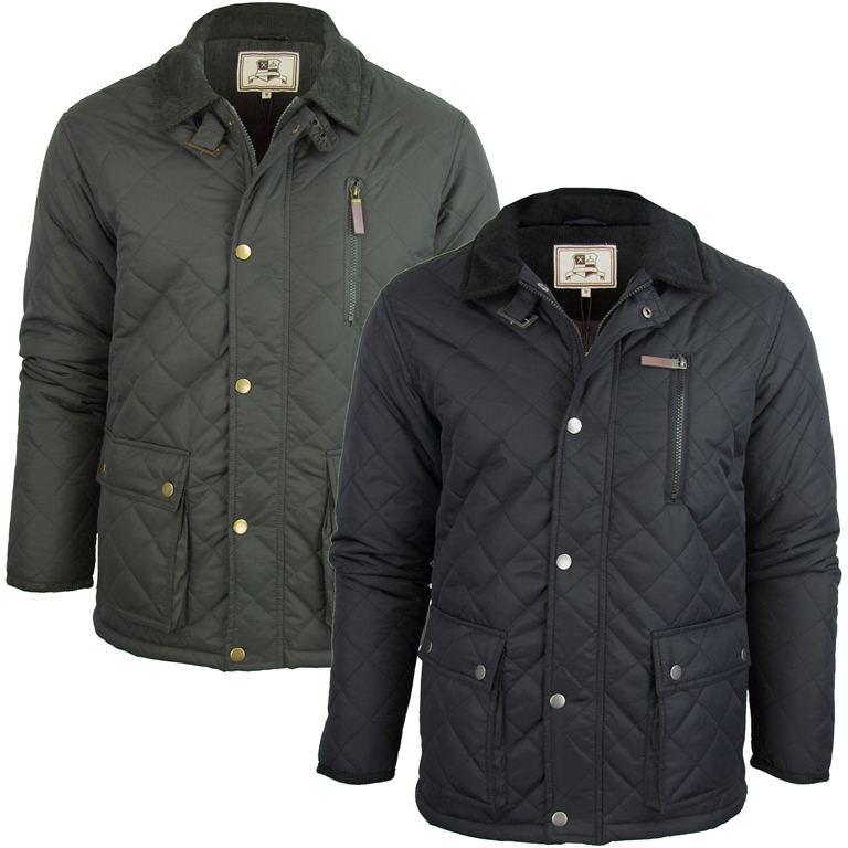 Mens Brave Soul Domino Quilted Padded Jacket Coat Ebay