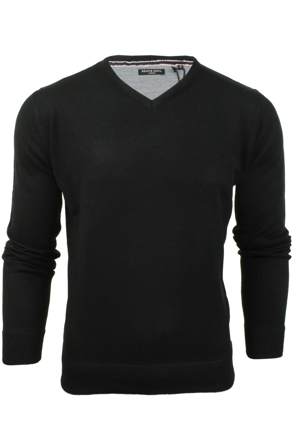 Mens-V-Neck-Jumper-by-Brave-Soul-Long-Sleeved