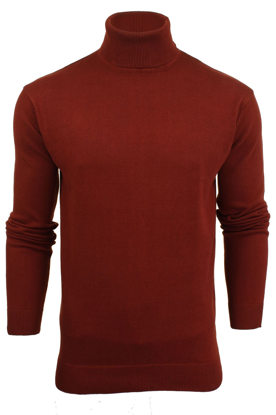 Mens Roll Polo Neck Jumper by Brave Soul 'Hume'