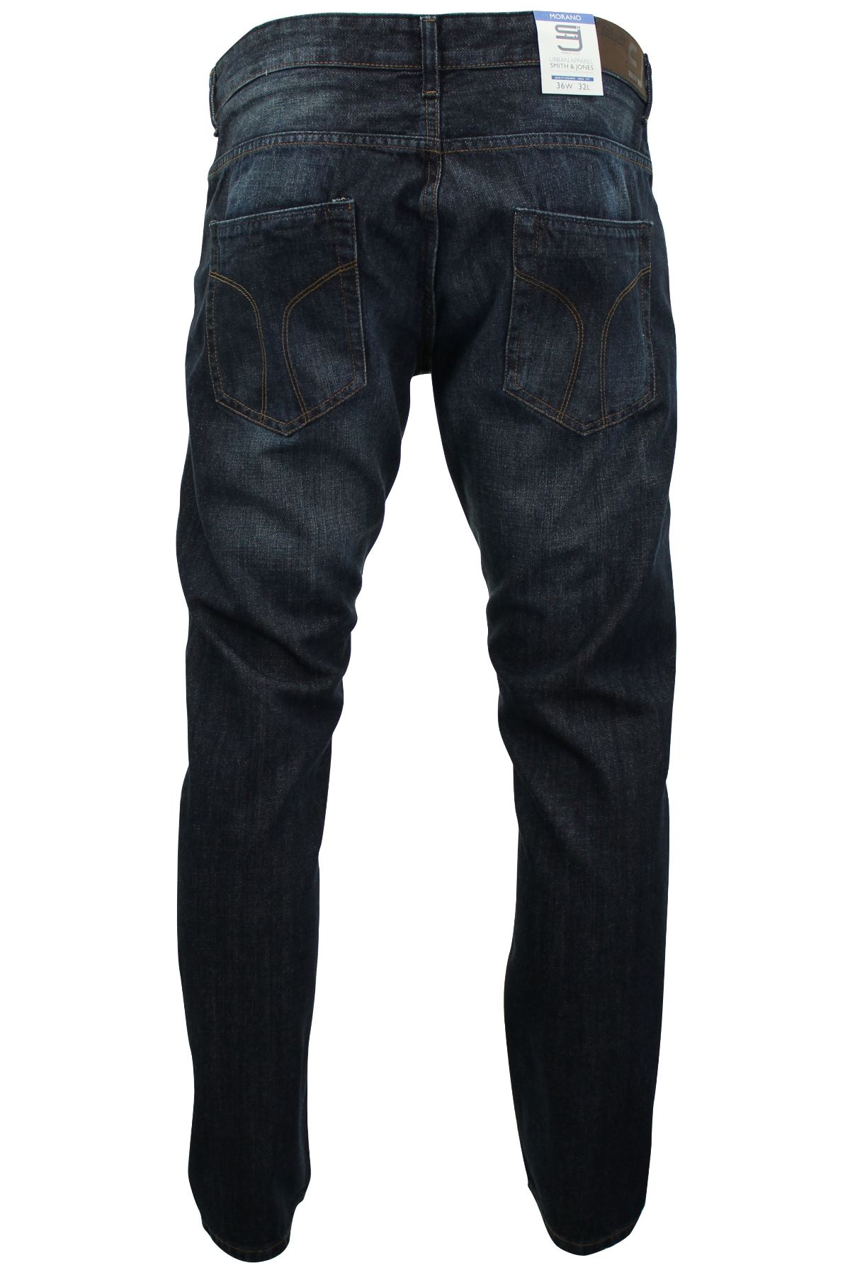 Mens Jeans Smith & Jones Deinm Raw Stone Washed Straight Fit Or Slim Fit