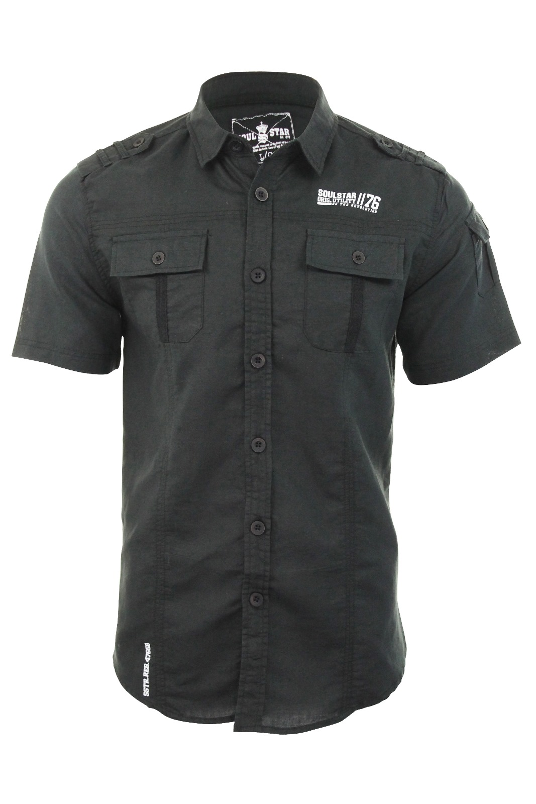 Mens linen shirt by soul star short sleeved 39 fontane for Mens summer linen shirts