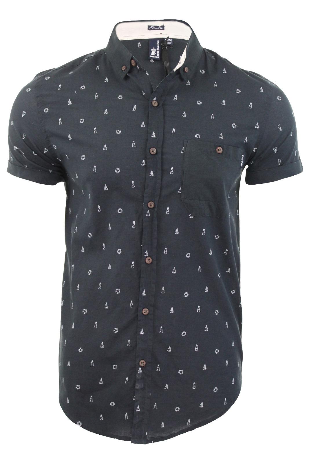 Mens shirt by soul star short sleeved 39 molvin 39 sailor for Mens shirt with stars