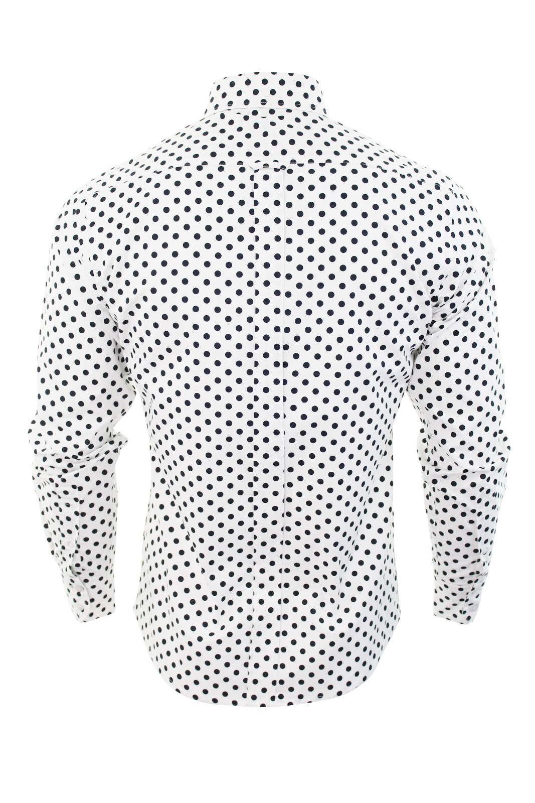 Mens Retro shirt by Relco Polka Dot Button Down Long Sleeve ...
