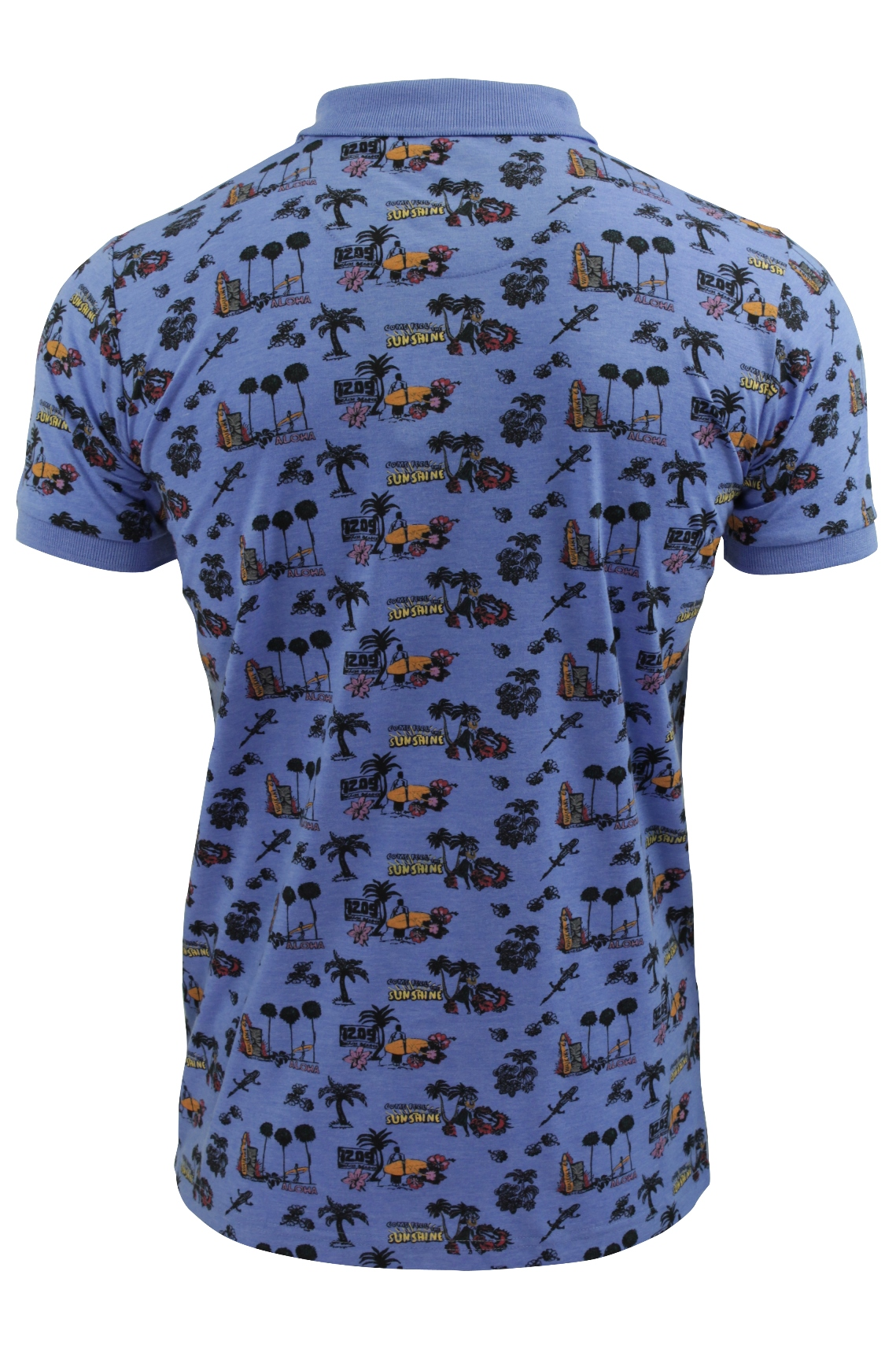 Mens Hawaiian Print Polo Shirt By Brave Soul Ebay
