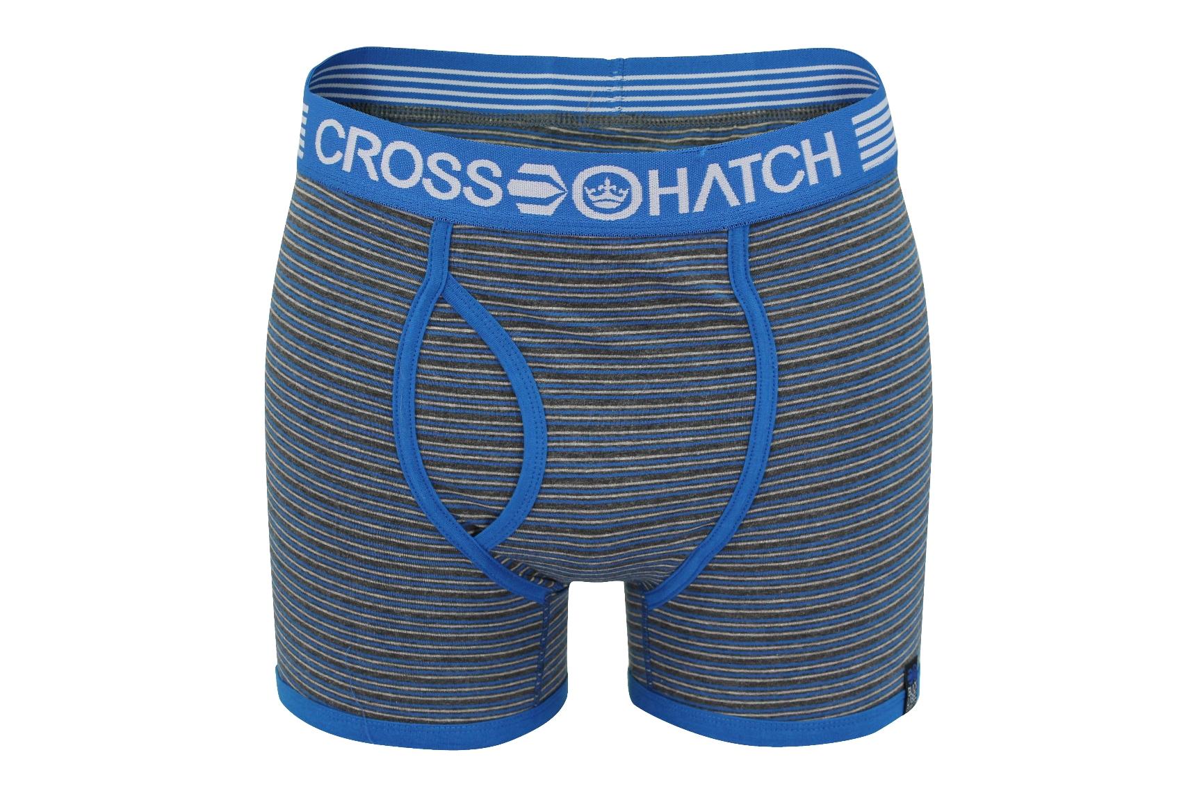Mens Boxer Shorts Crosshatch Fireglow Bight Colours Underwear Trunks Stretch