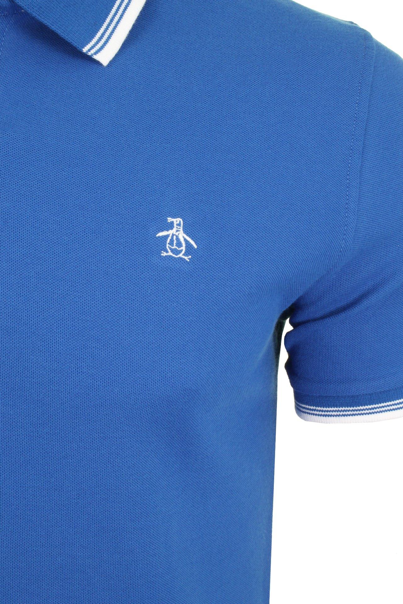 Mens Original Penguin Tipped Pique Polo T-Shirt Short Sleeved