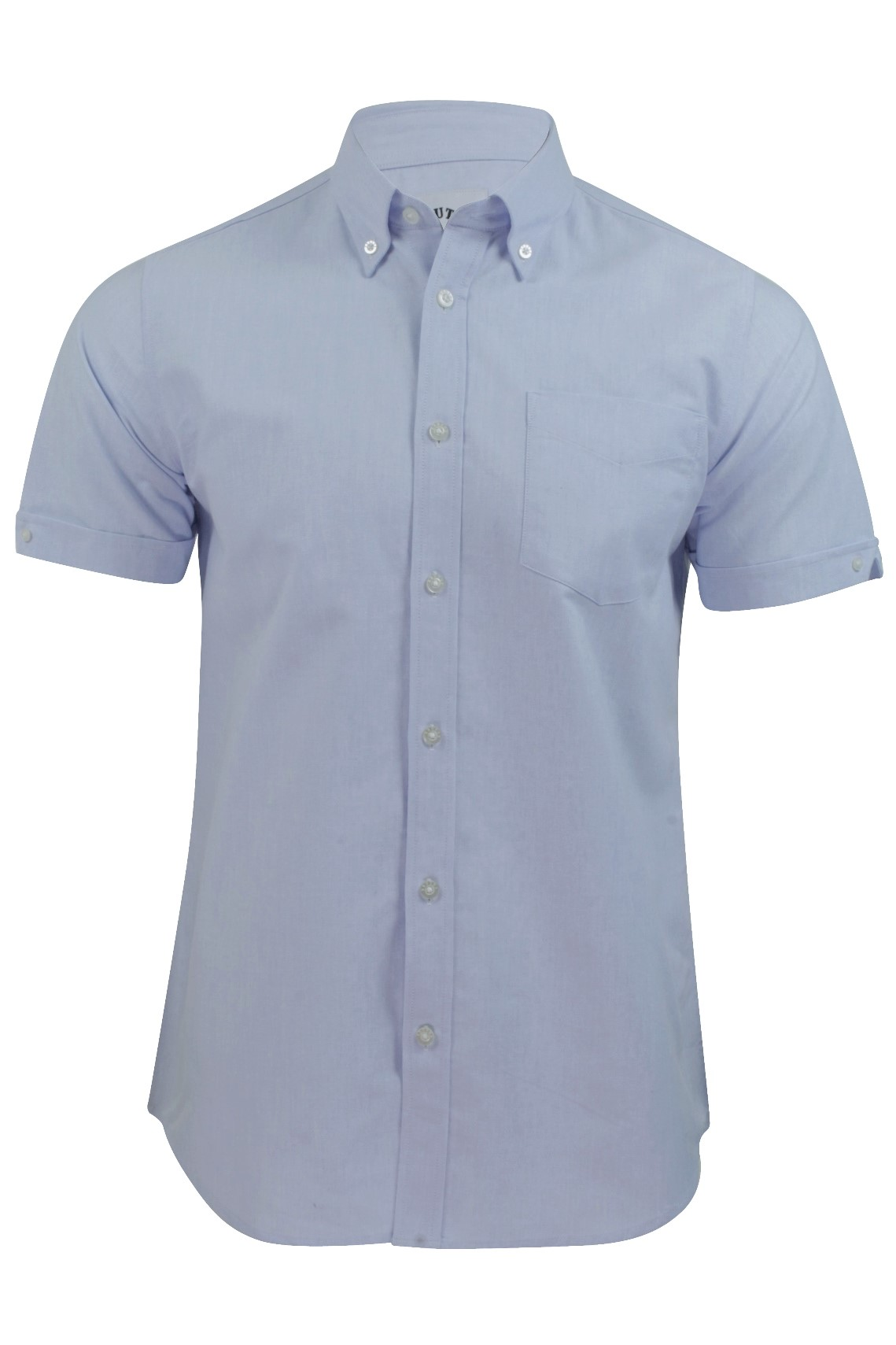Mens Oxford Shirt By Brutus Short Sleeved Button Down