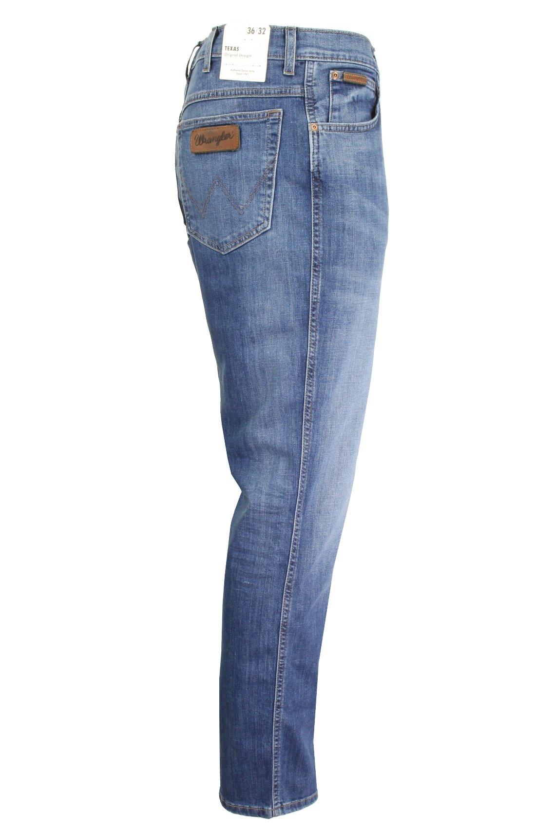Da Uomo Wrangler /'Texas/'S Jeans-Denim Stretch-Original Dritto Fit