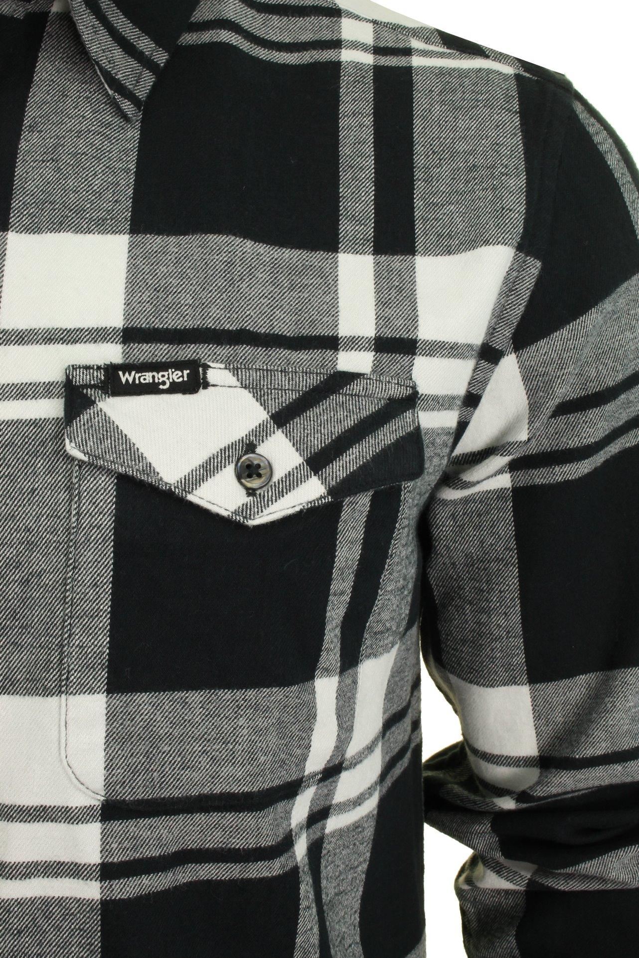 Da Uomo Wrangler patta tasca Check camicia a maniche lunghe