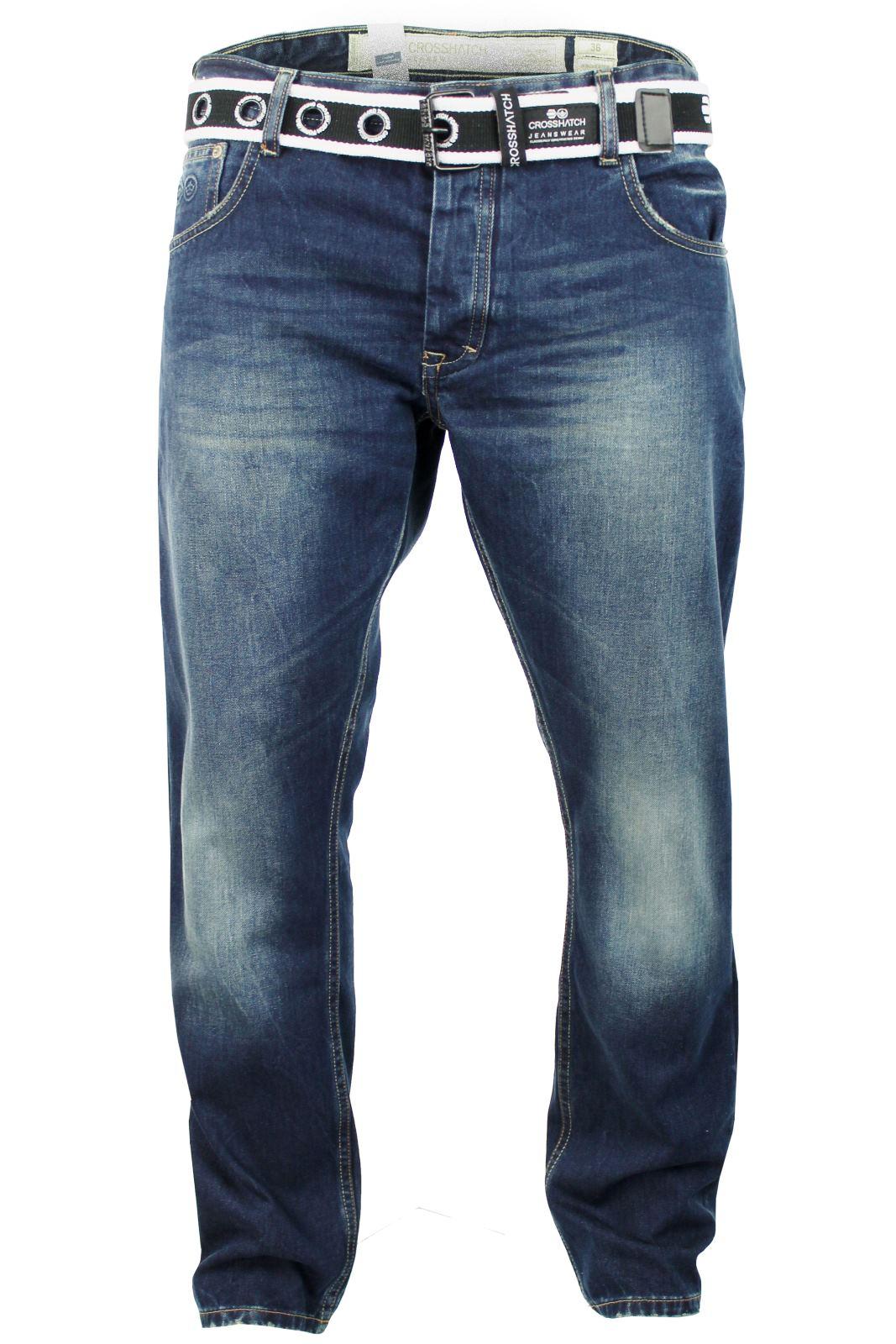 Crosshatch Jeans Raw Stone Washed Denim Button Fly | eBay