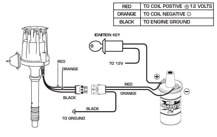 Msd Coil Wiring Diagram : Msd ignition complete kit ready to run distributor