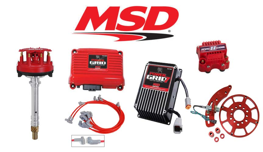 msd power grid parts accessories msd 9801 power grid ignition kit controller distributor wires crank trigger bbc