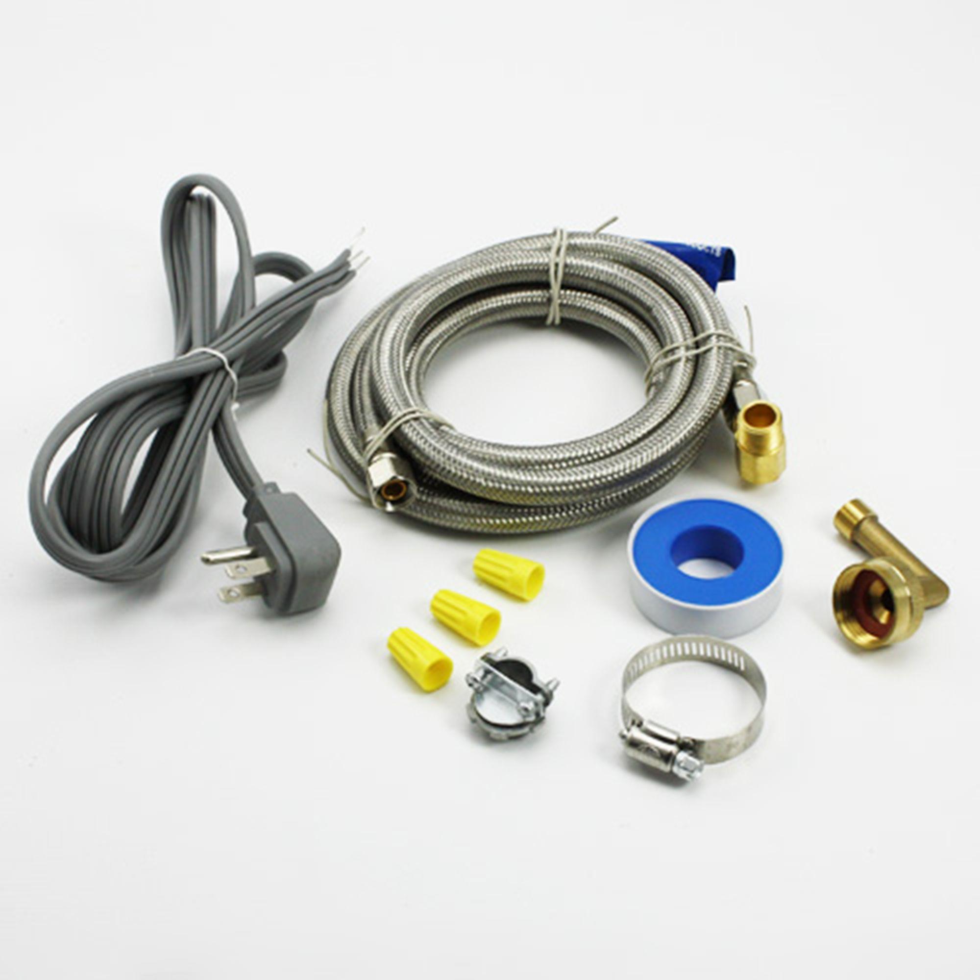 universal dishwasher installation kit 6572 for ge frigidaire whirlpool maytag lg ebay. Black Bedroom Furniture Sets. Home Design Ideas