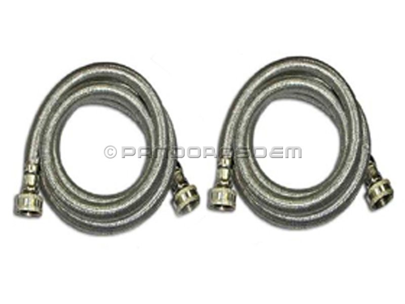 washing machine 6 39 water inlet hoses 2 pack stainless steel ebay. Black Bedroom Furniture Sets. Home Design Ideas