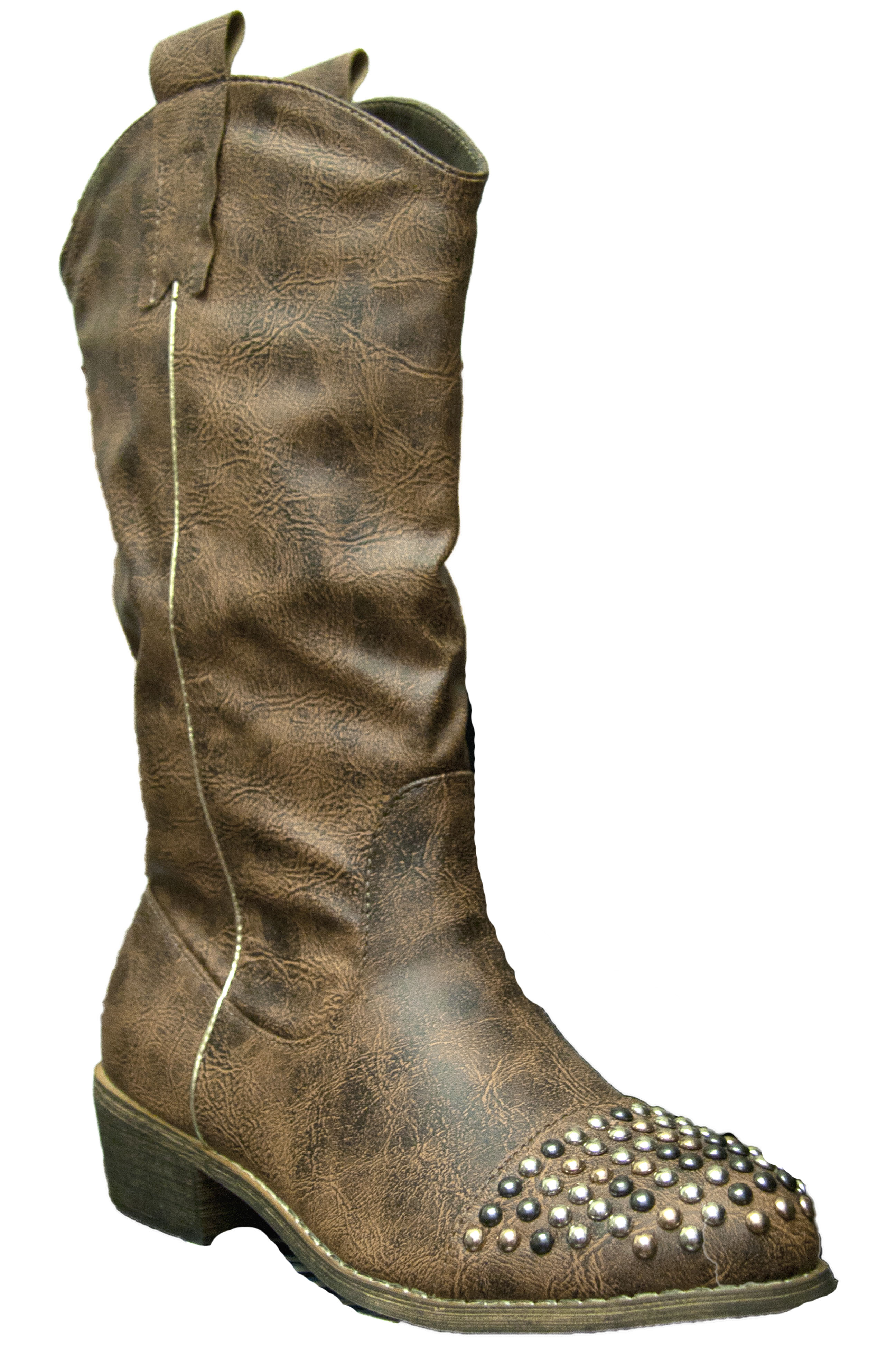 Womens Studded Cowboy Boot