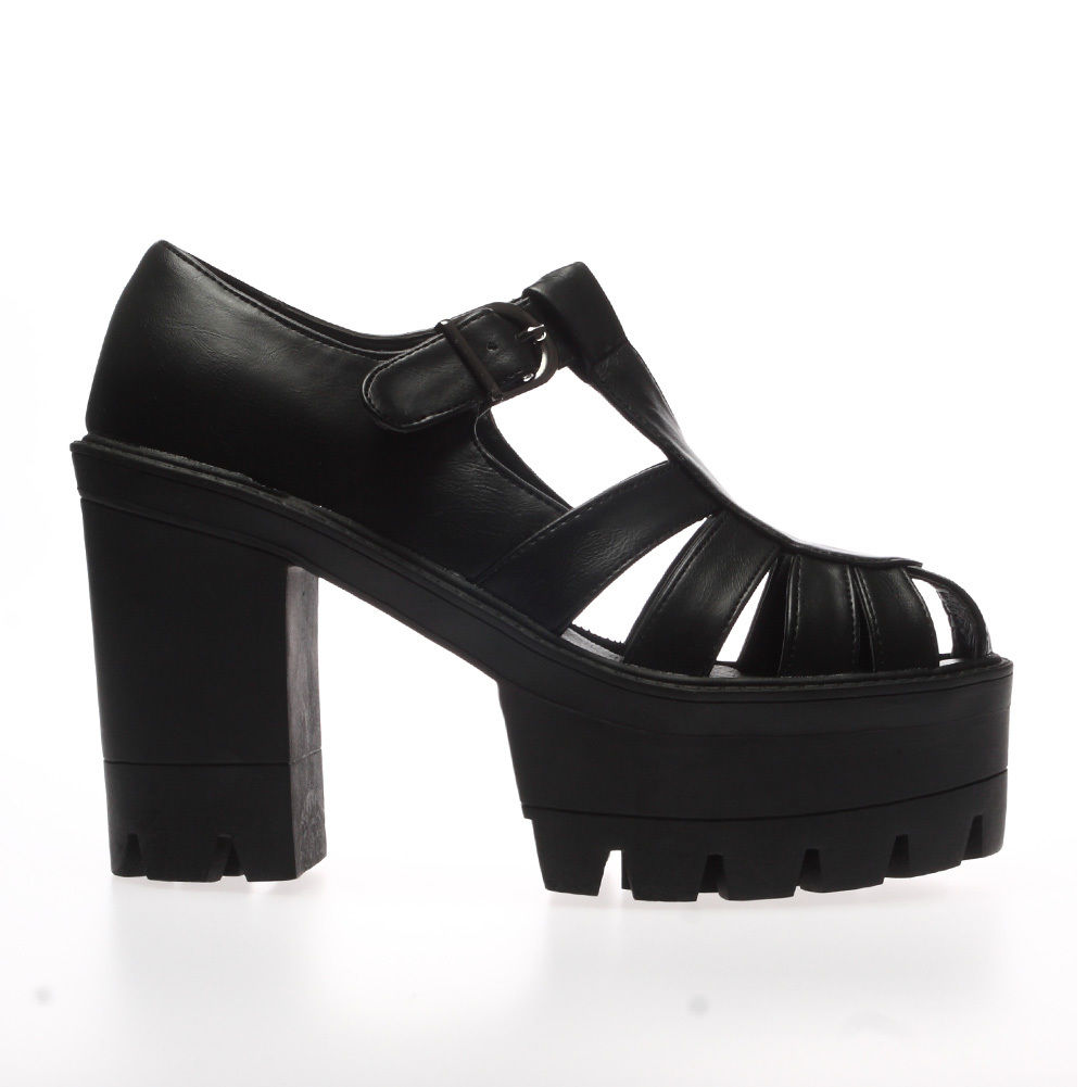 Ladies-Women-Chunky-Cleated-Platform-Sole-High-Heel-Strappy-Sandals-Shoes-Size