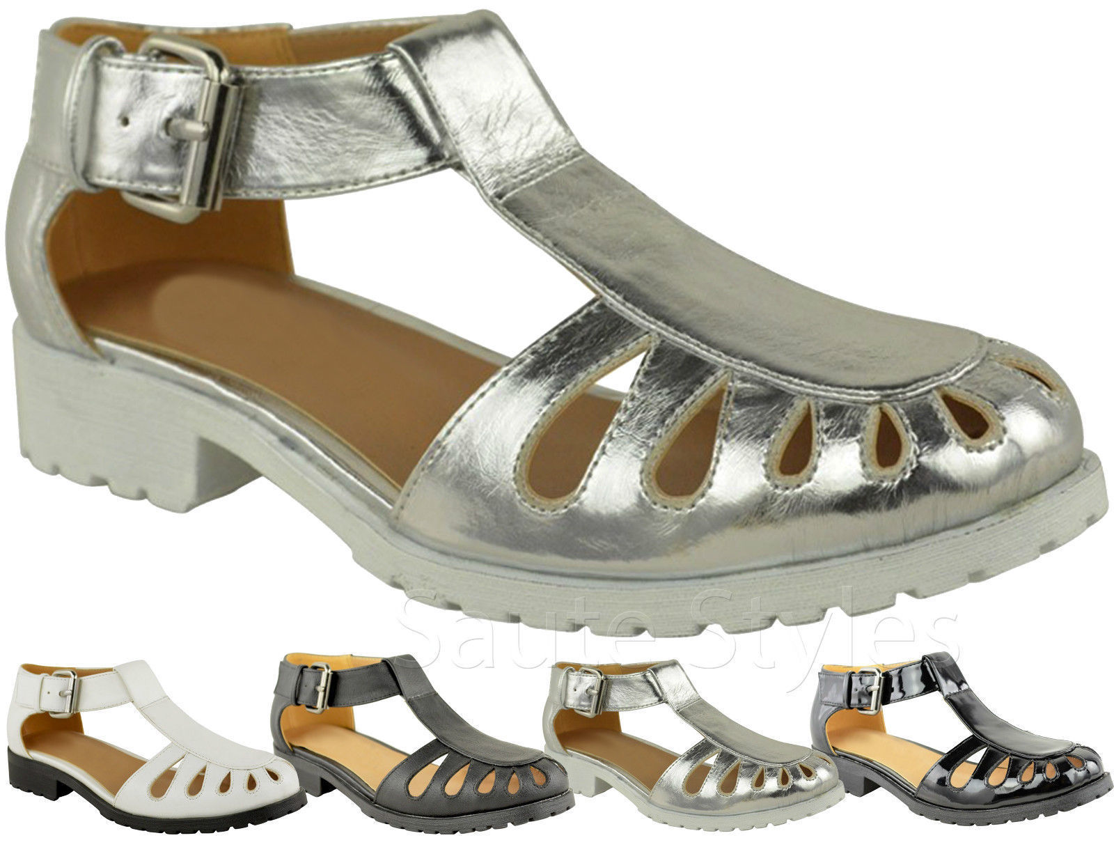 Ladies women gladiator chunky sole girls geek sandals for Onorevoli donne