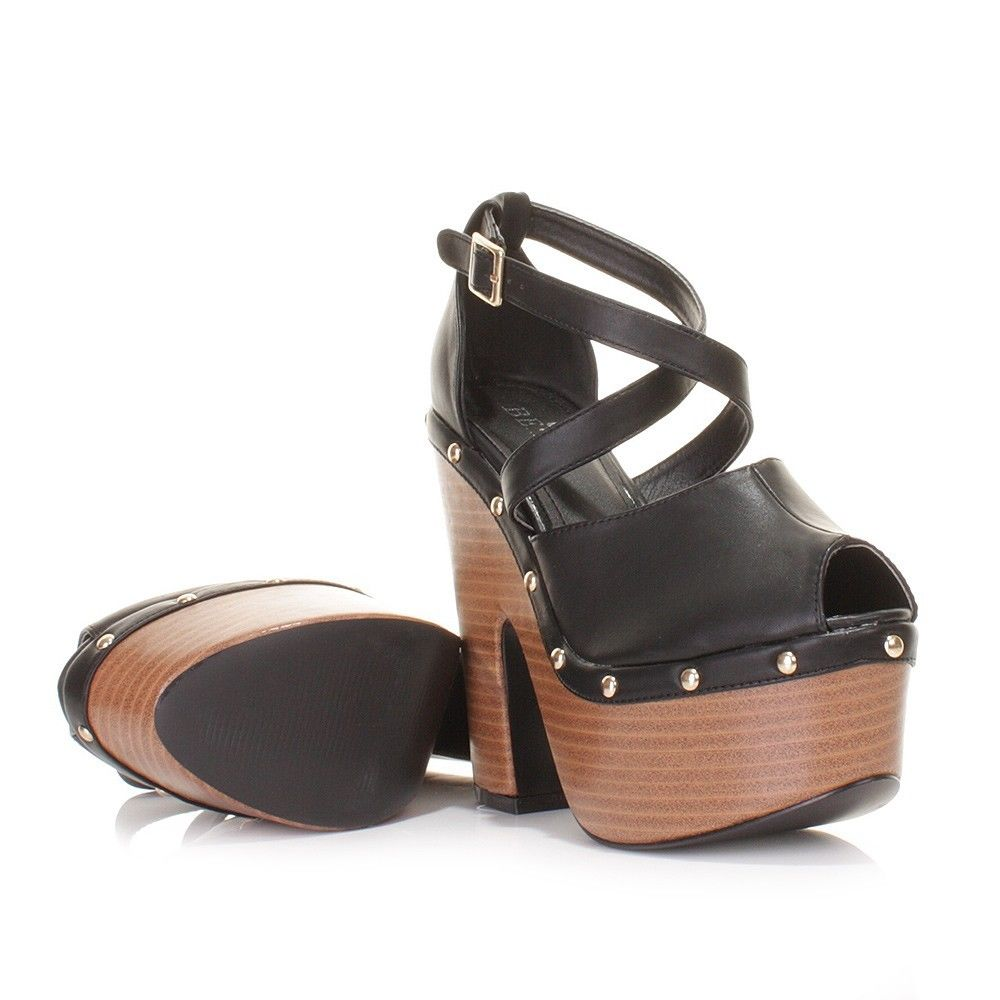 Ladies-Cut-Out-Wedge-High-Heel-Studded-Peeptoe-Platform-Sandals-Women-Shoes-Size