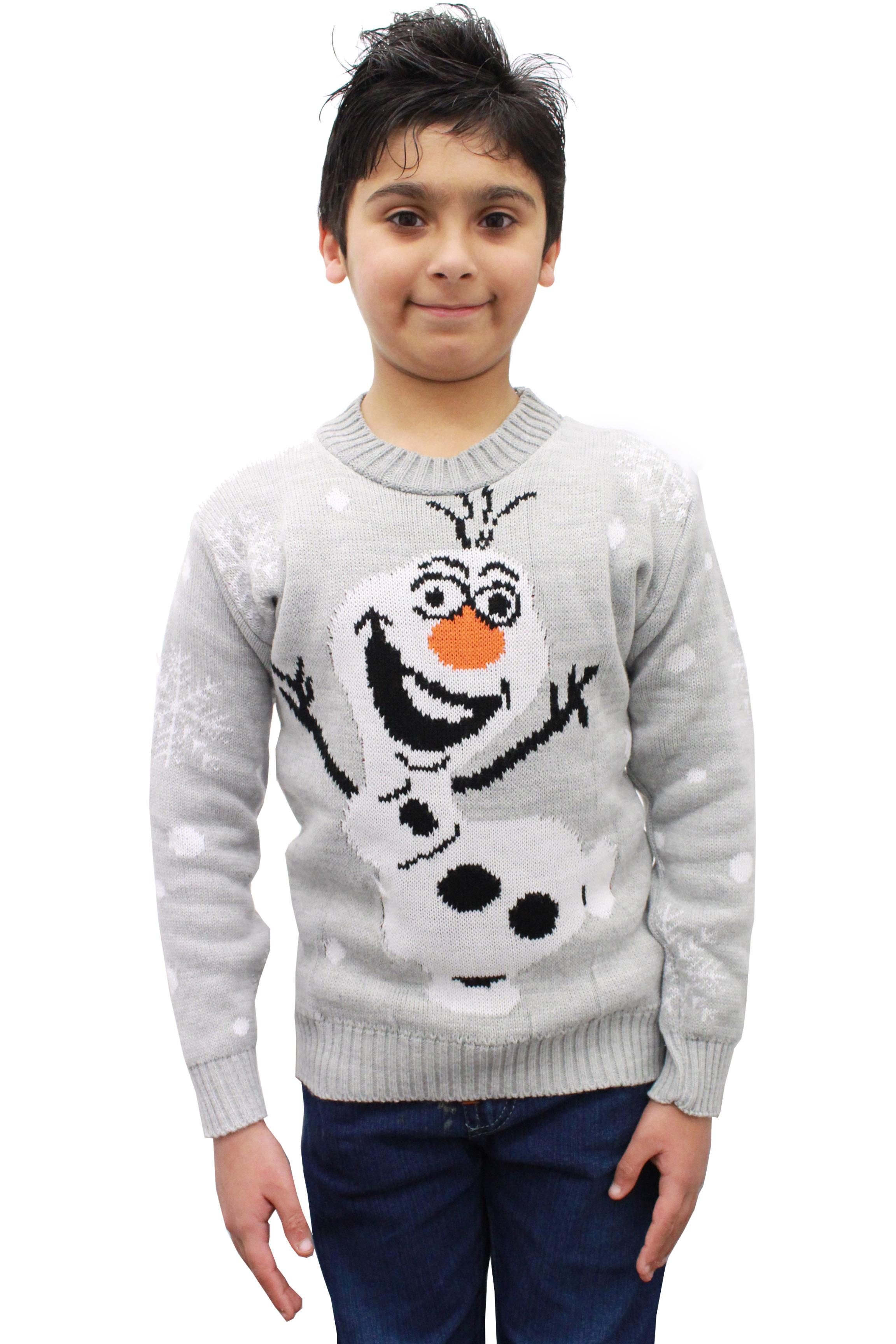 unisexe gar on fille enfants pull olaf nouveaut tricot hiver no l t shirts ebay. Black Bedroom Furniture Sets. Home Design Ideas