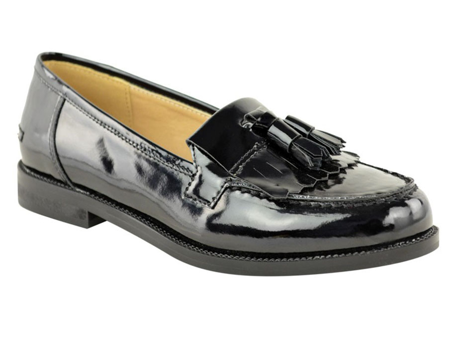 Image is loading Ladies-Women-Flat-Casual-Loafers-Borgues-School-Office-