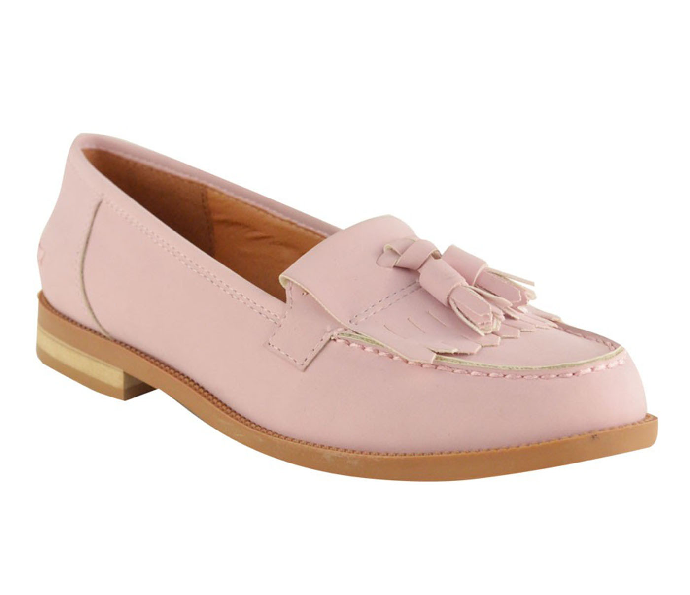 ladies women flat casual loafers borgues school office