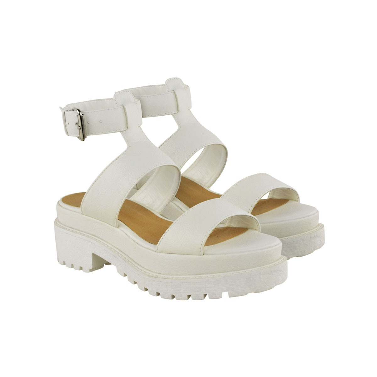 womens gladiator chunky cleated sole sandals