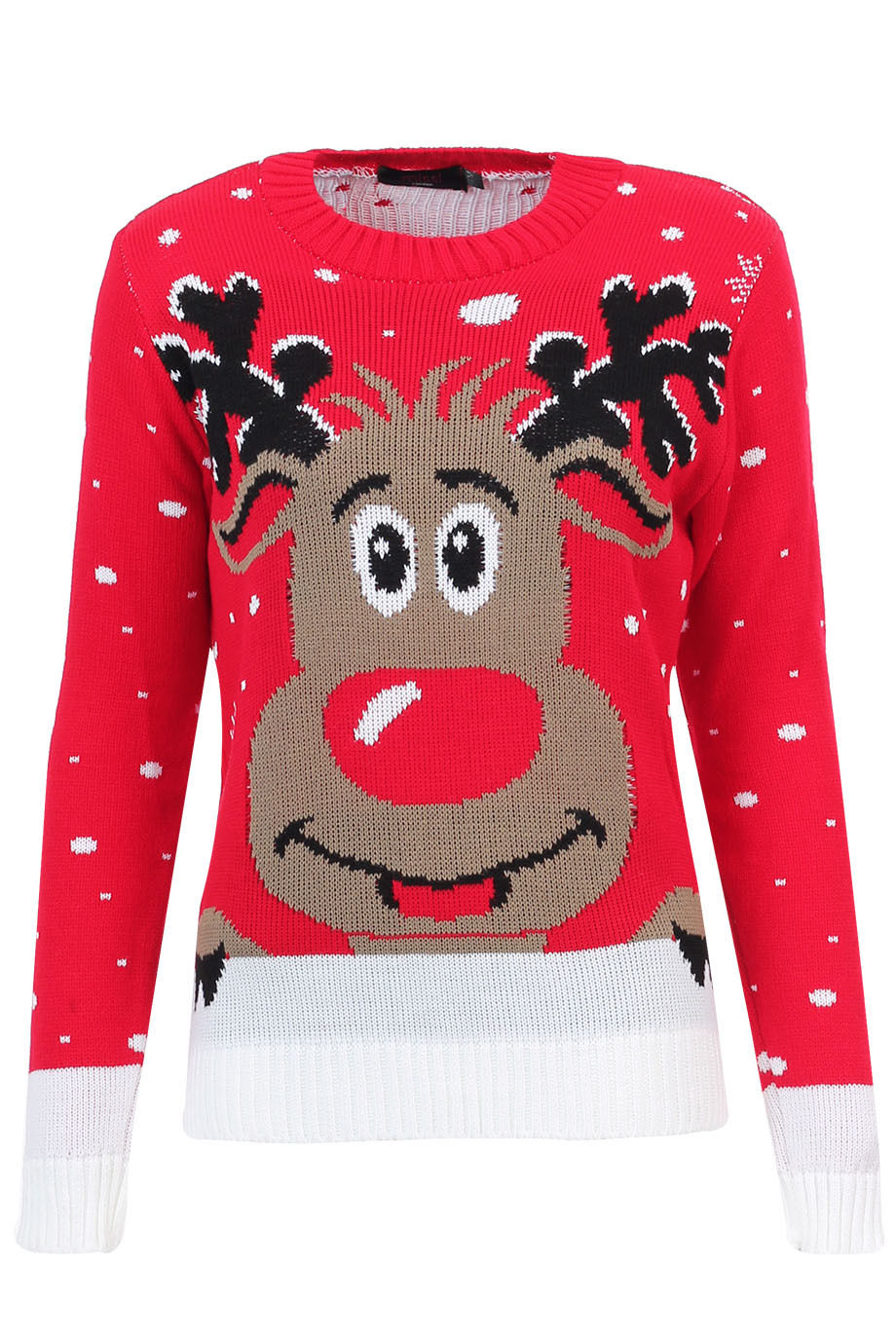 Knitting Patterns For Novelty Christmas Jumpers : Ladies Womens Vintage Sweater Olaf Novelty Knitted Winter Christmas Jumper To...