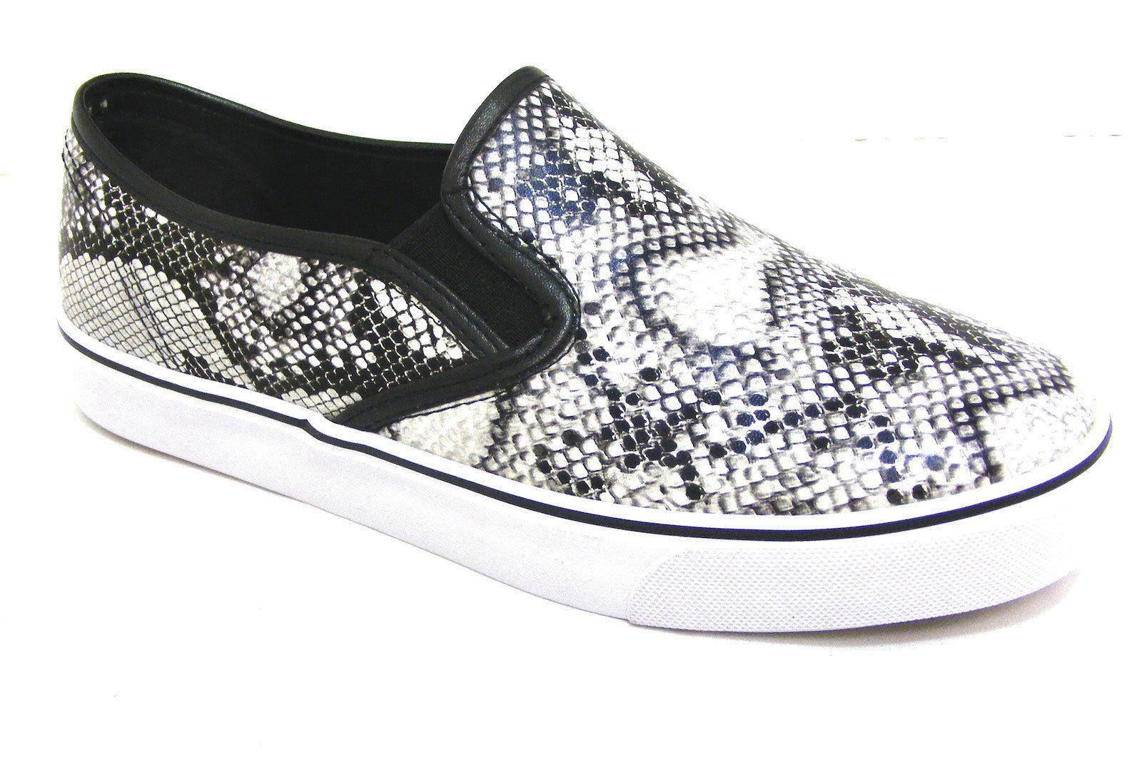 Señoras Para Mujer Chicas Plana Slip On Skater Gimnasio plimsolls formadores Bombas Zapatos Talla