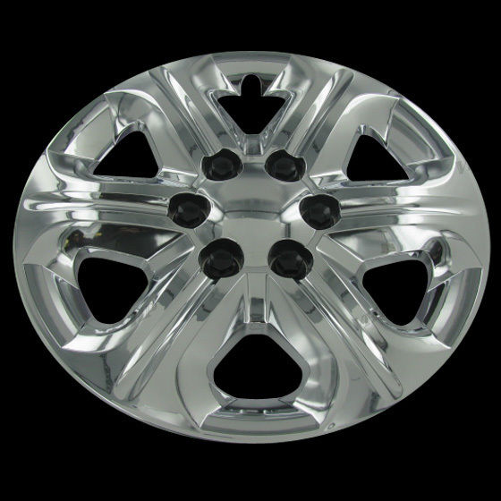 set of 4 chevy traverse 17 chrome bolt on hub caps wheel. Black Bedroom Furniture Sets. Home Design Ideas
