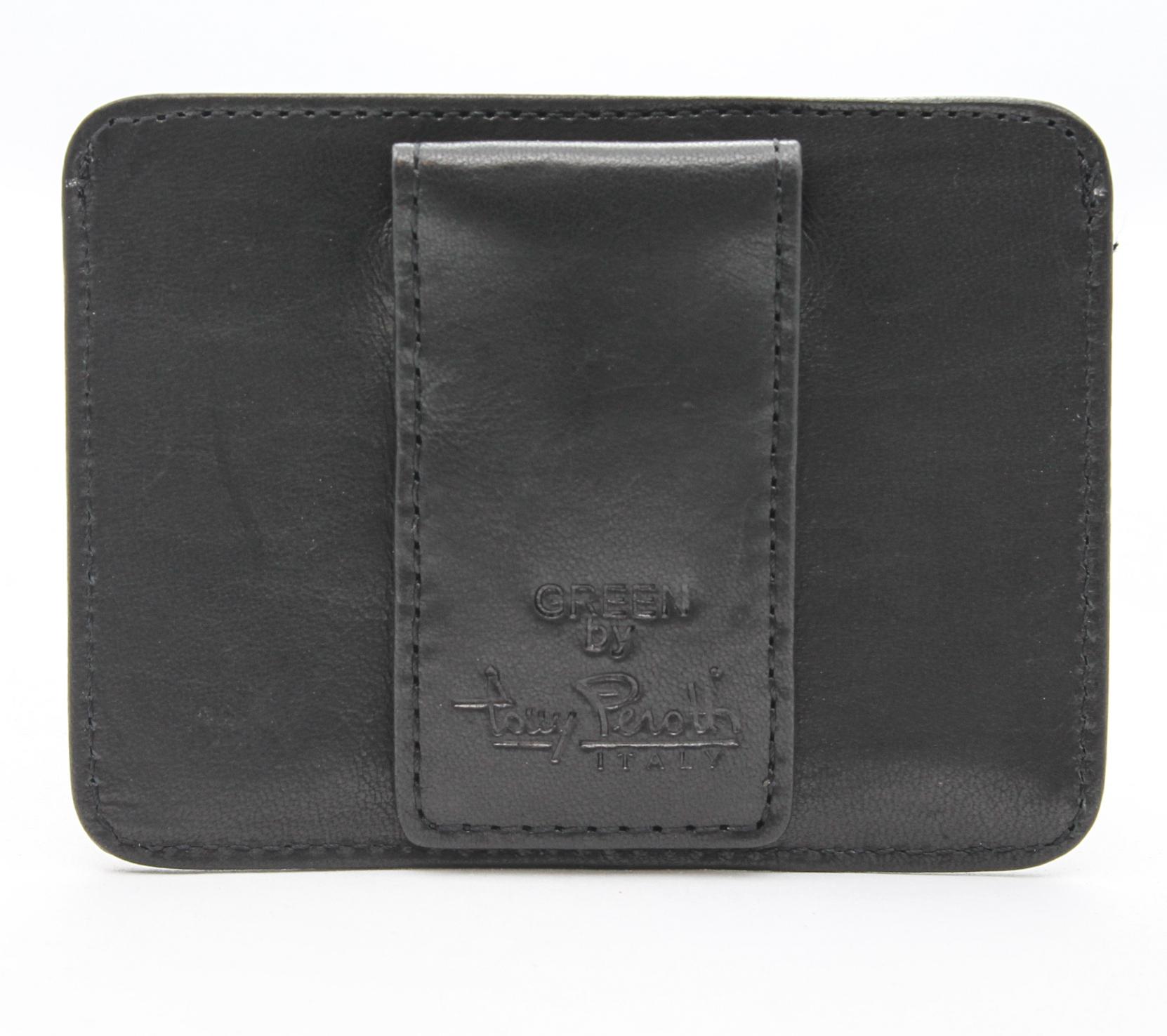 tony perotti italian leather slim magnetic money clip