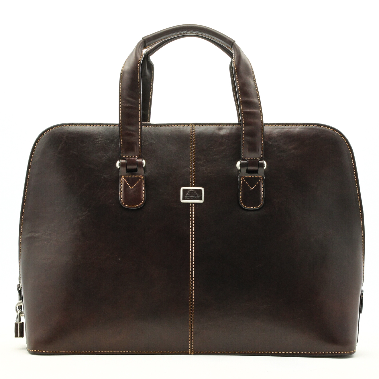 Innovative McKlein Women39s Red Lake Forest Italian Leather Laptop Tote  11727922