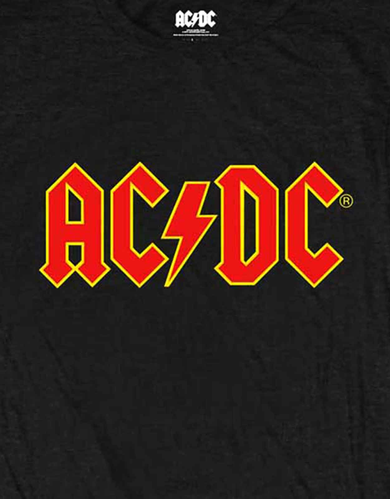 AC//DC T Shirt classic Red Band Logo new Official Womens Skinny Fit