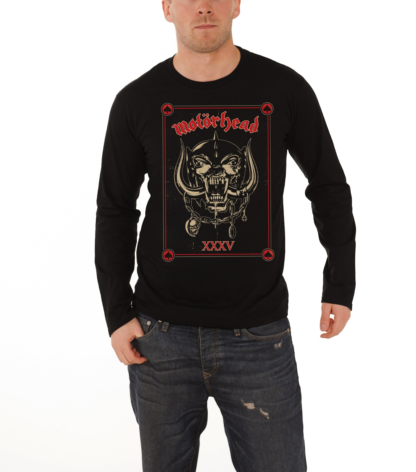 Motorhead t shirt mens england ace of spades band logo for Men s dobby shirt