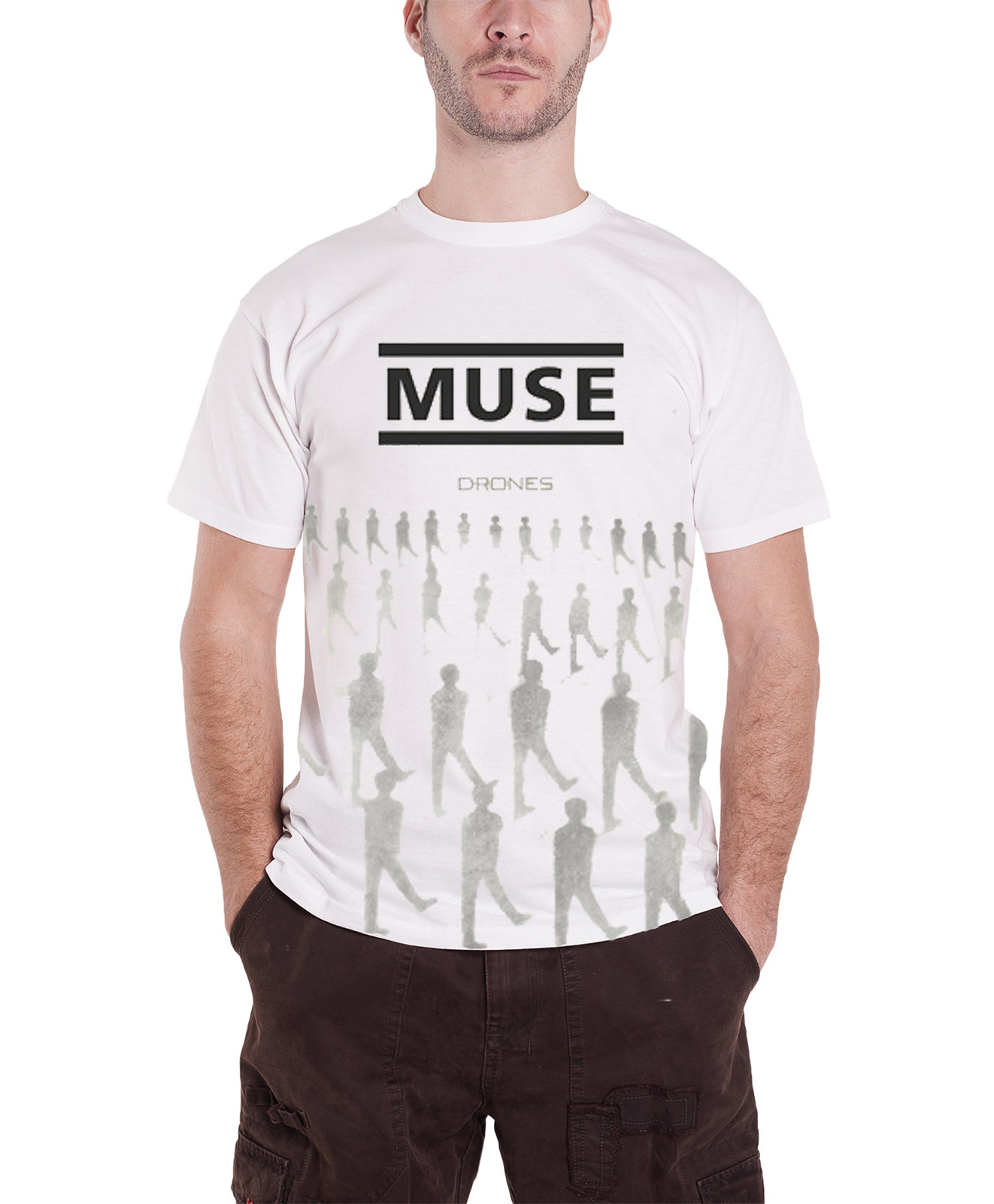 muse t shirt drones cover band logo absolution 2nd law new. Black Bedroom Furniture Sets. Home Design Ideas