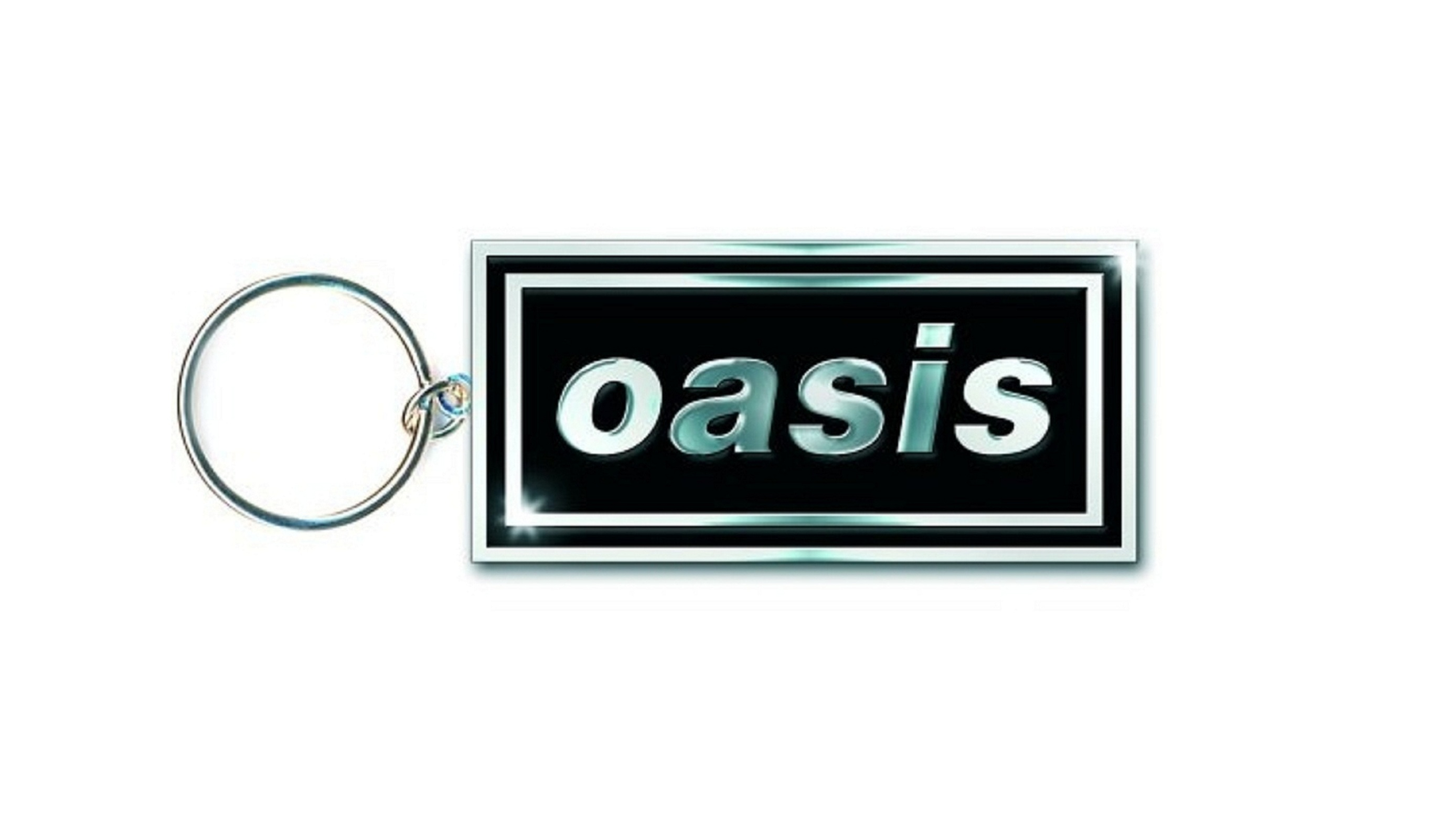 oasis keyring keychain band logo new official metal one