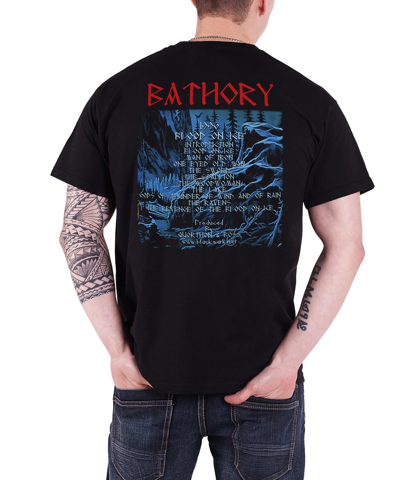 bathory t shirt twilight of the gods band logo under the