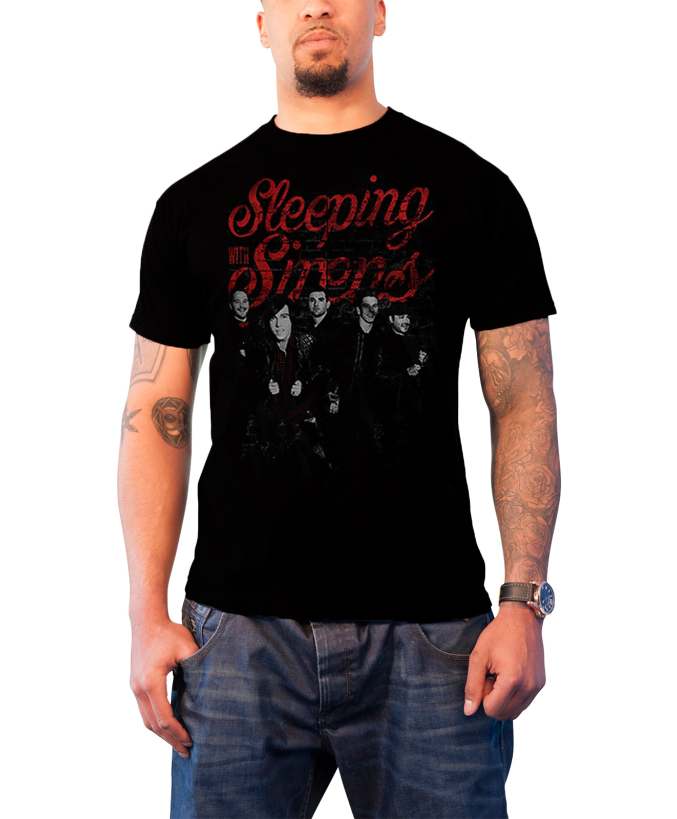 sleeping with sirens t shirt mens official madness band