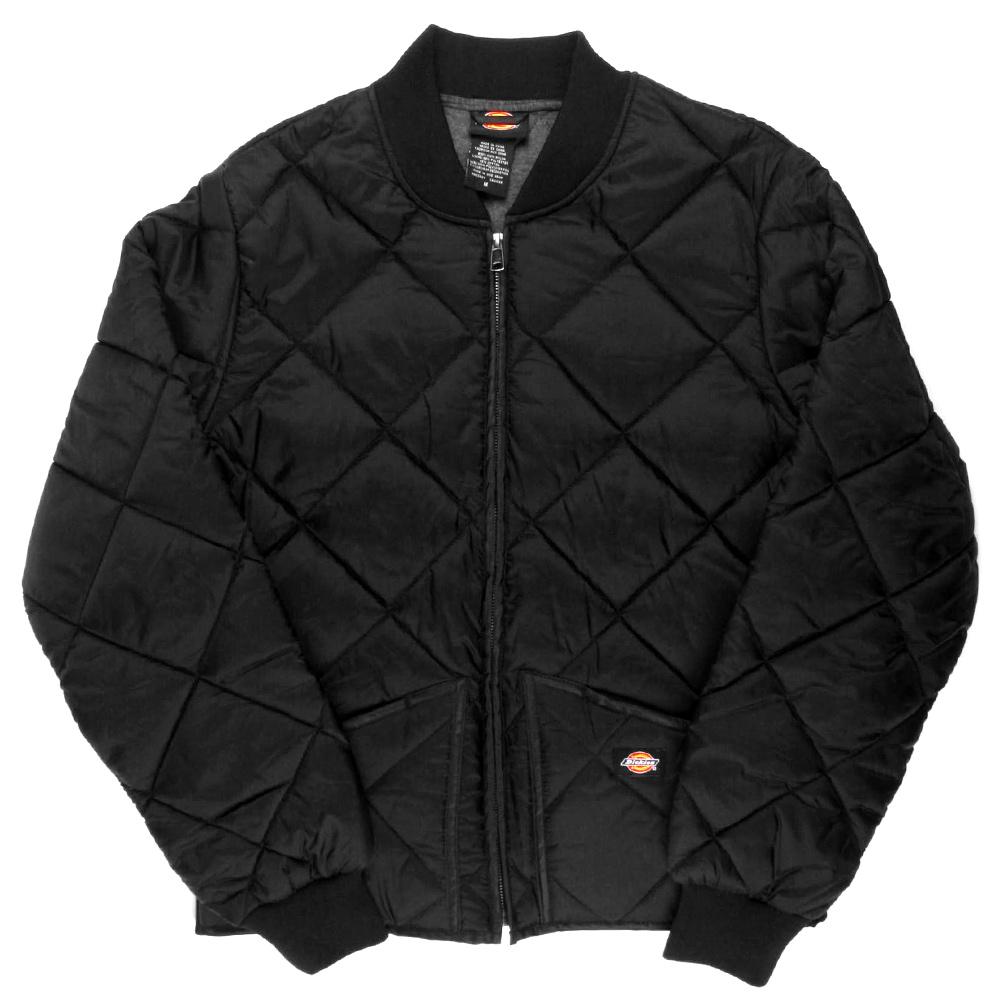 Dickies Diamond Quilted Nylon Jacket Men's Zip Up Fleece Lined Style# 61242