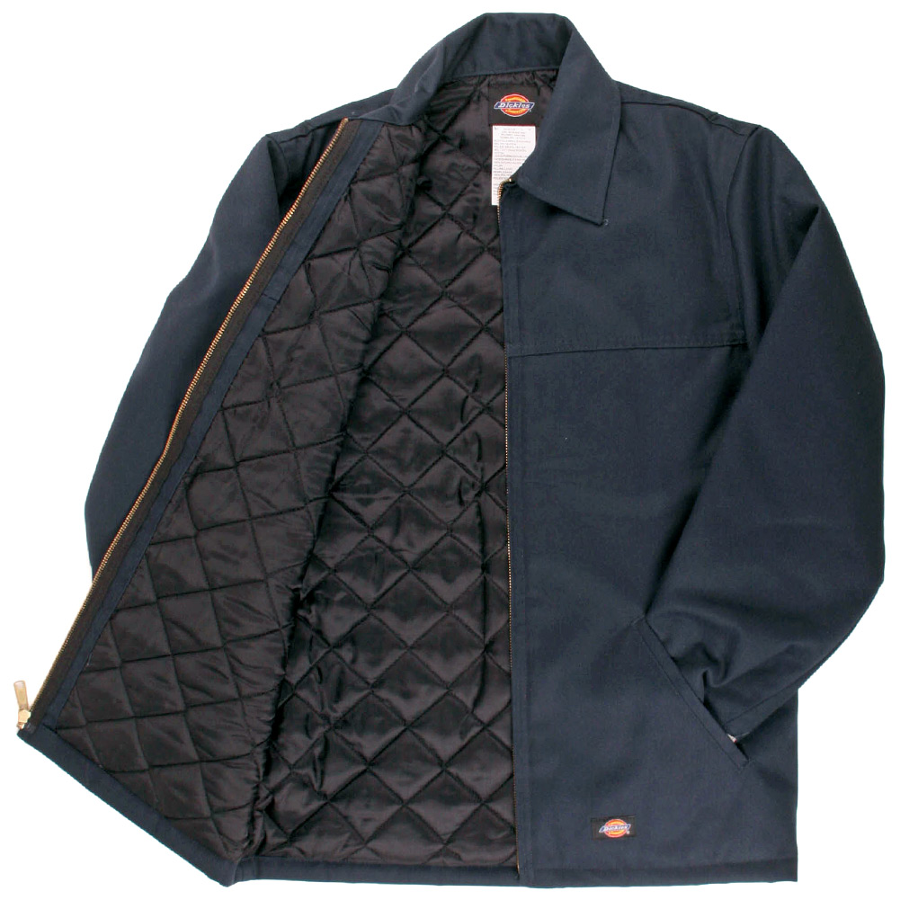Dickies Men's Hip Length Lined Zip Up Twill Jacket Work ...