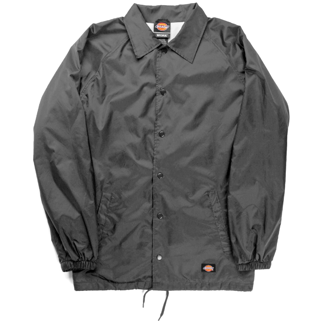 Dickies snap front lined windbreaker men 39 s nylon coaches for Coach jacket