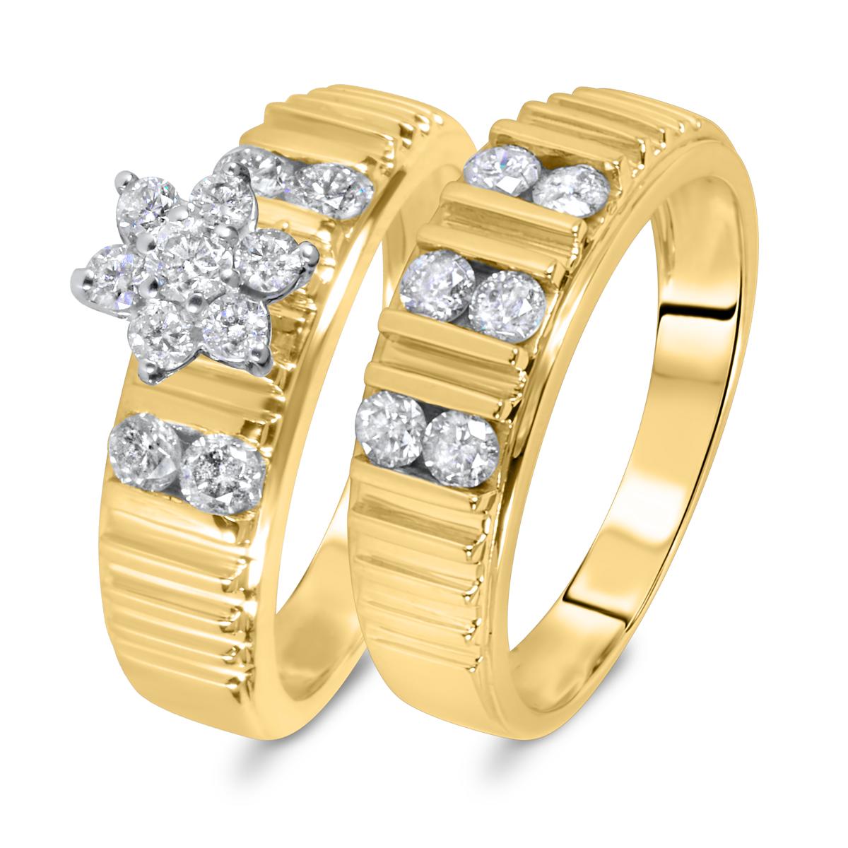 7/8 CT. T.W. Diamond Women's Bridal Wedding Ring Set 14K Yellow Gold