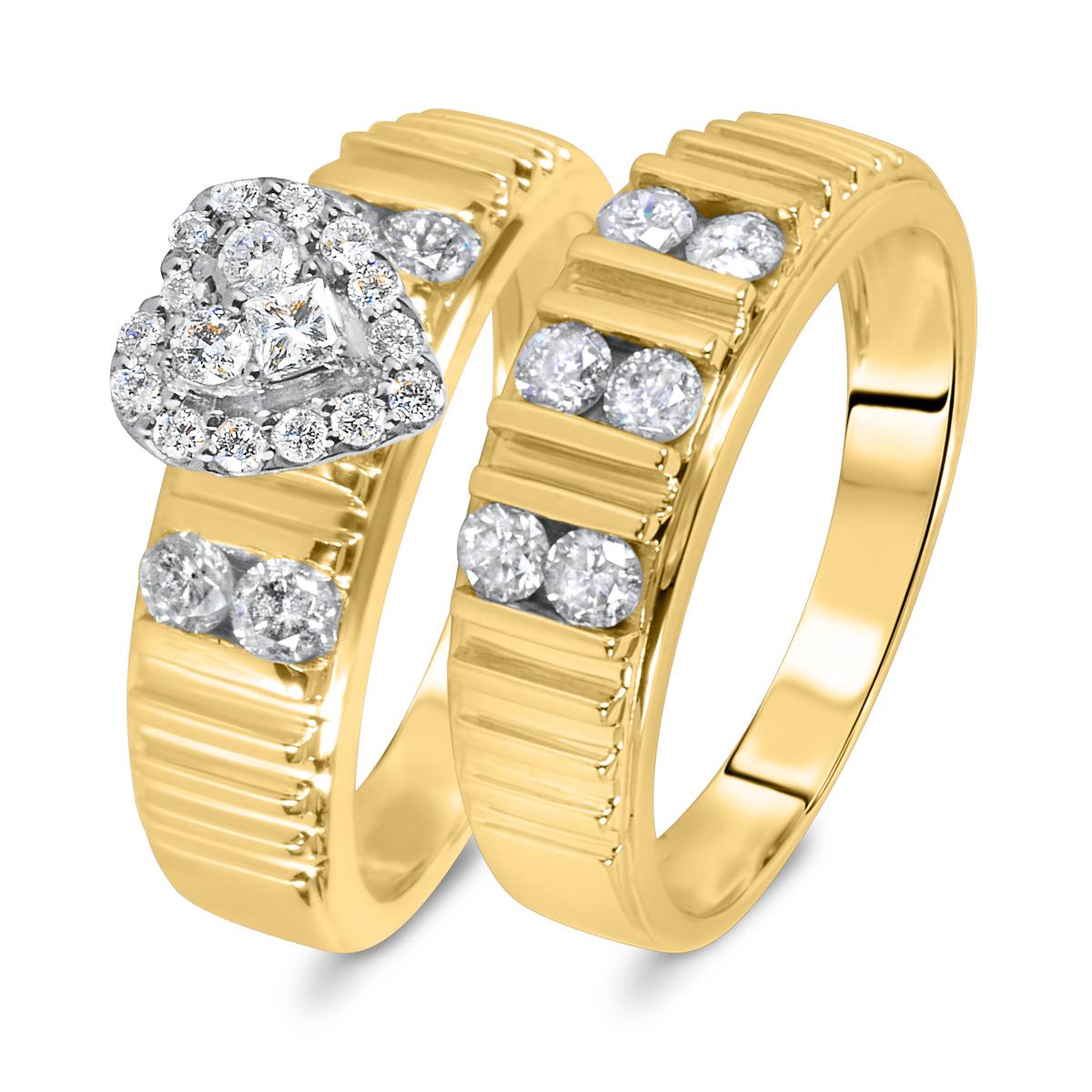 7/8 CT. T.W. Diamond Women's Bridal Wedding Ring Set 10K Yellow Gold