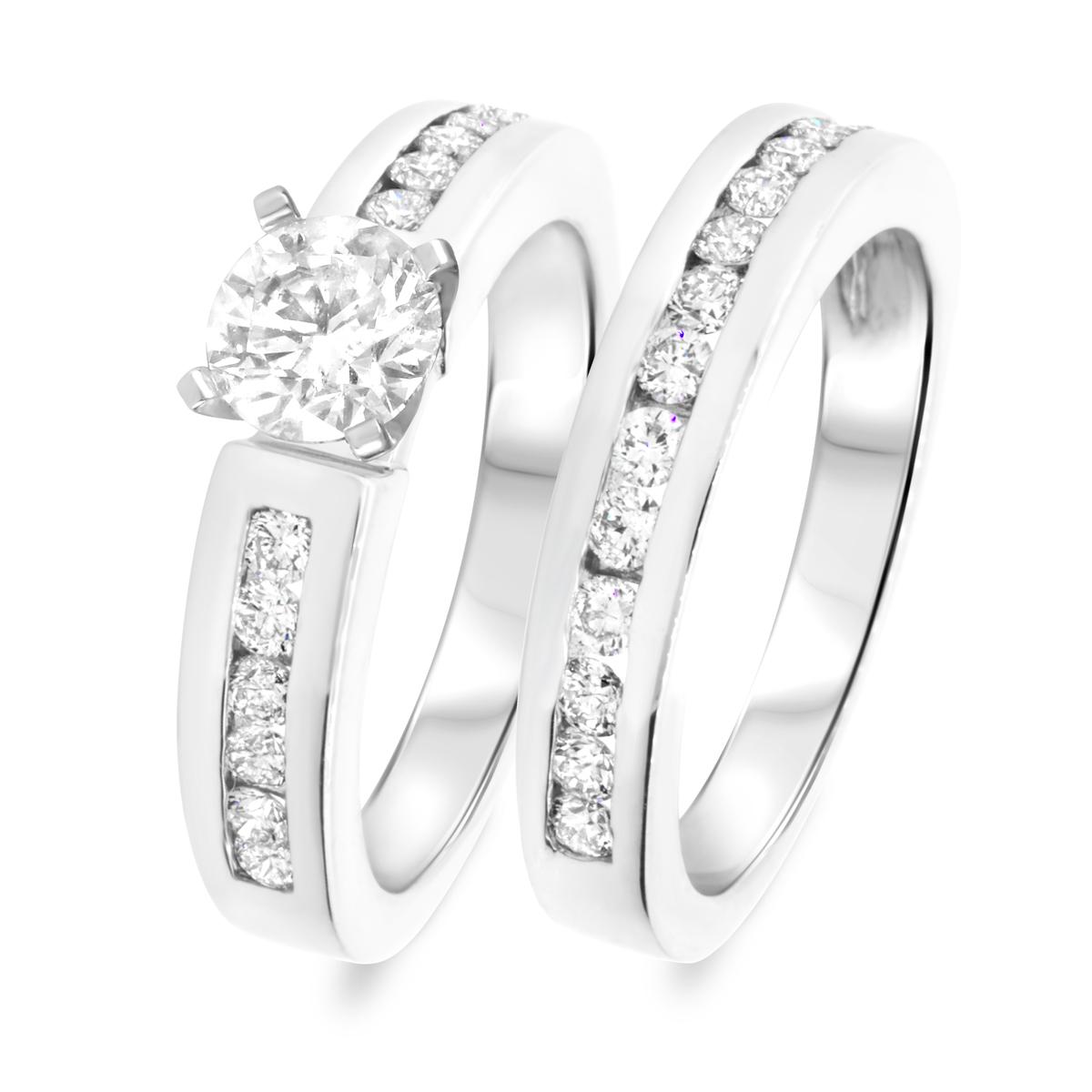 1 7/8 CT. T.W. Diamond Women's Bridal Wedding Ring Set 10K White Gold