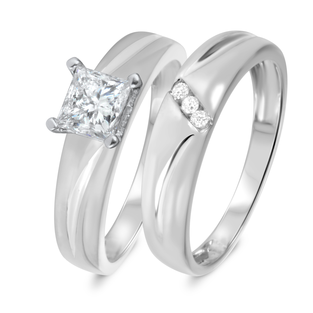 3/4 CT. T.W. Diamond Women's Bridal Wedding Ring Set 10K White Gold