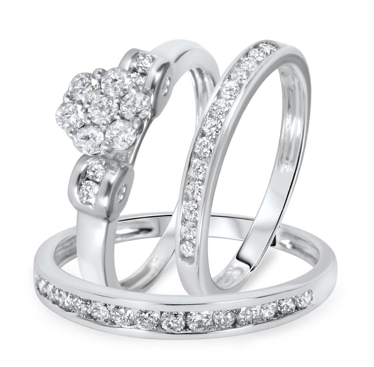 1 1/10 CT. T.W. Diamond Ladies Engagement Ring, Wedding Band, Men's Wedding Band